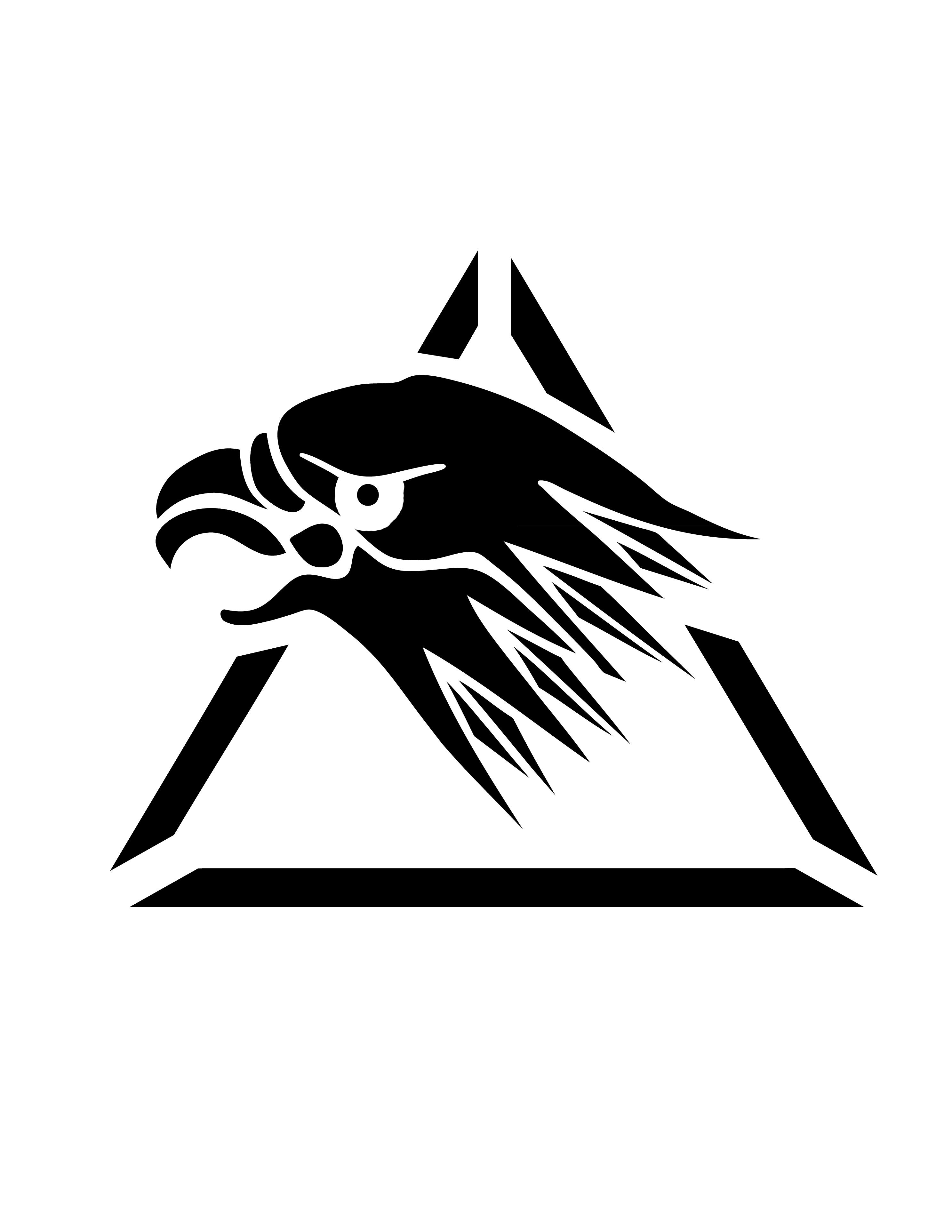 Silverhawks Logo (Pumpkin Stencil.
