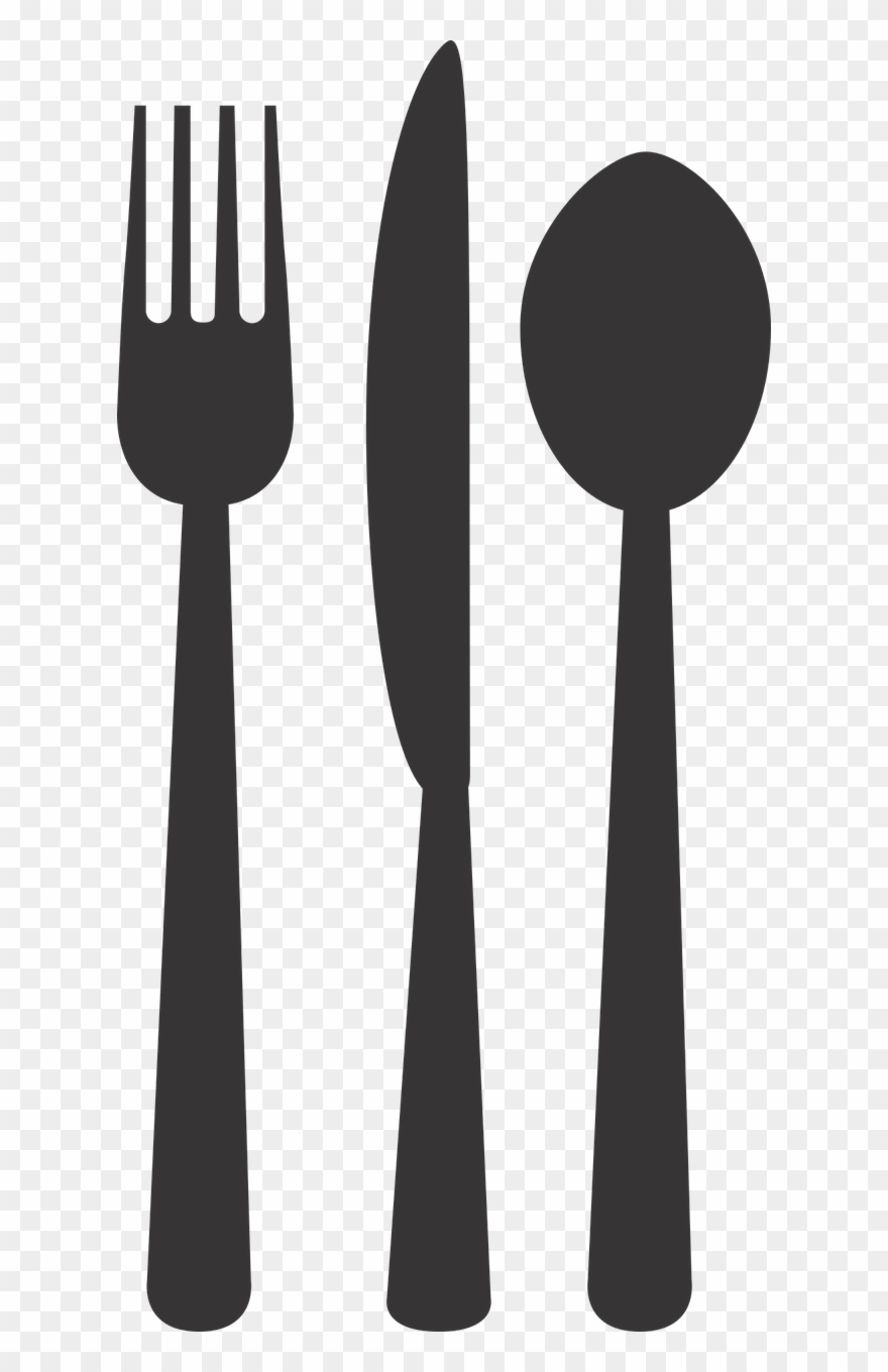 Silverware Plate Fork Spoon Png Image Clipart (#2550257.