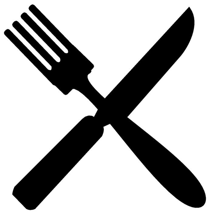Free Silverware Clipart Black And White, Download Free Clip.