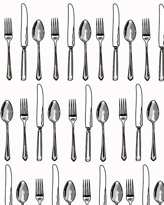 Free illustration: Fork, Spoon, Knife, Knives, Clip.