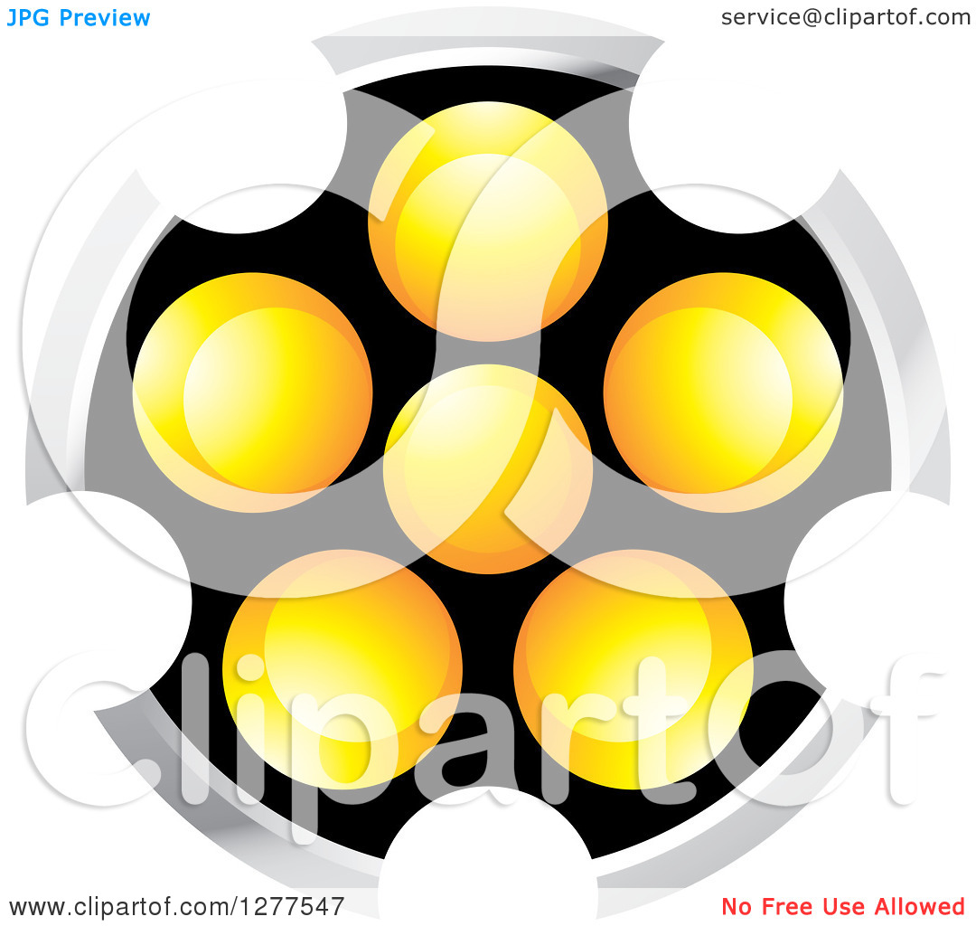 Clipart of a Black Silver White and Orange Abstract Ight.