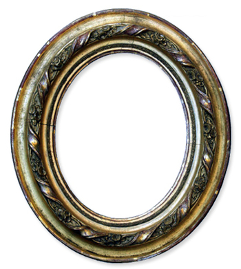 Silver White Gold Oval Wood Photo Antique Frames Picture Style.