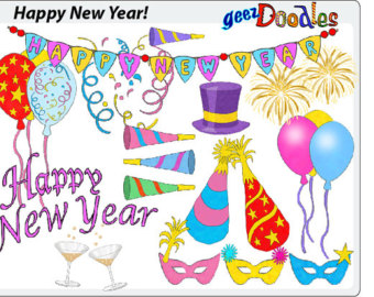 New year clipart.