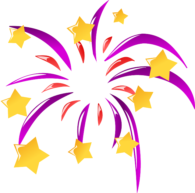Free vector graphic: Fireworks, Rockets, Sylvester, Fire.