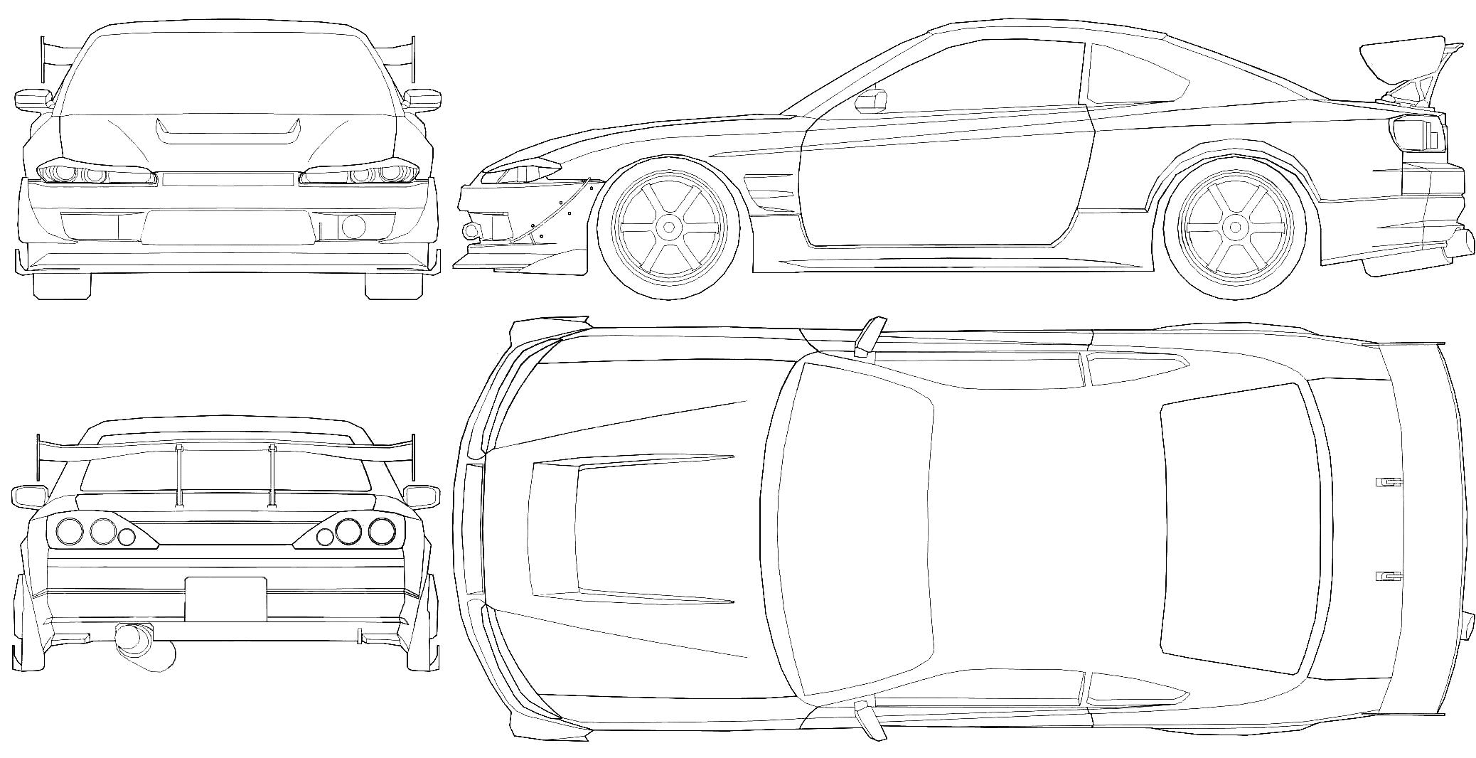 Nissan silvia s15 clipart.