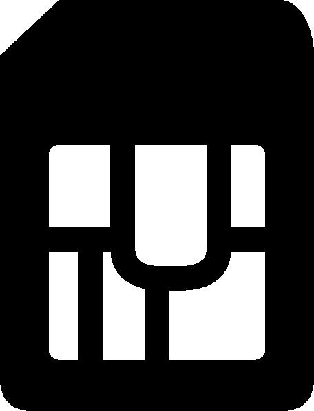 Sim Card Icon Clip Art at Clker.com.