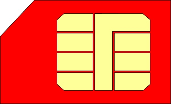 Sim Card Gsm clip art Free vector in Open office drawing svg.