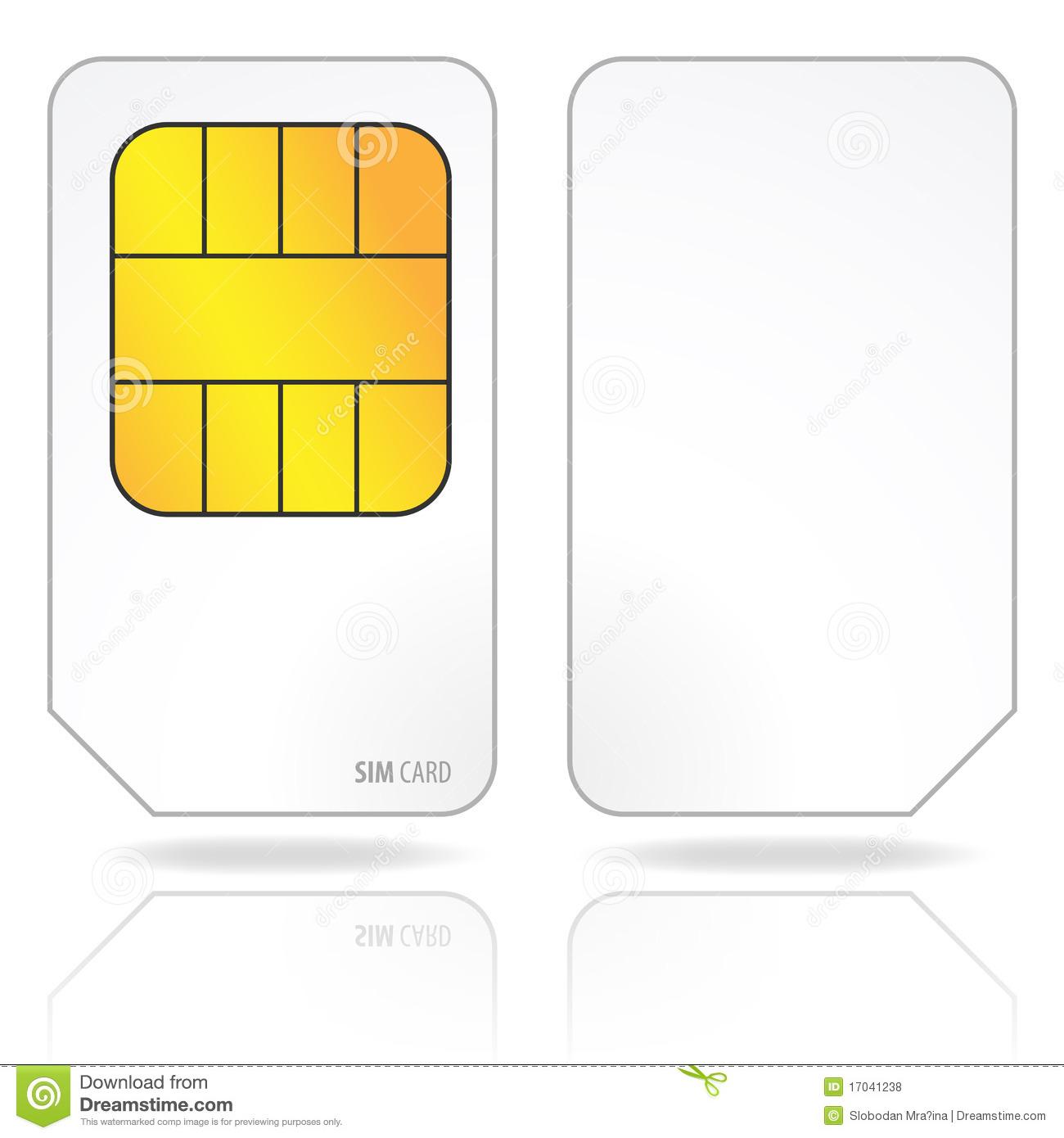 Sim Card Royalty Free Stock Photos.
