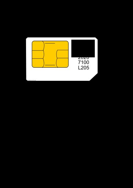 Sim card SVG Vector file, vector clip art svg file.