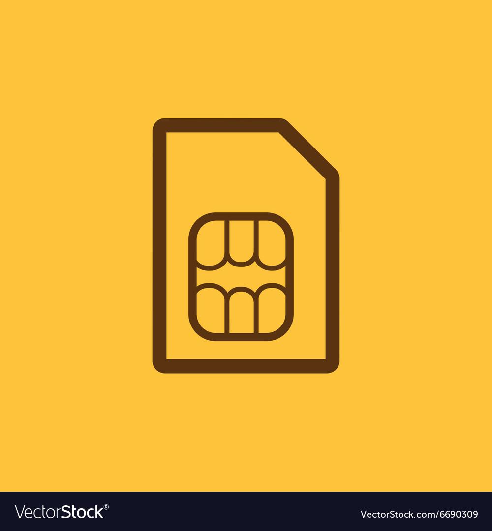 The sim card icon Sim Card symbol Flat.