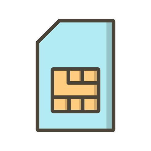 Sim Vector Icon.
