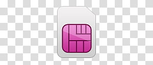 Girlz Love Icons , SIM, sim card icon transparent background.