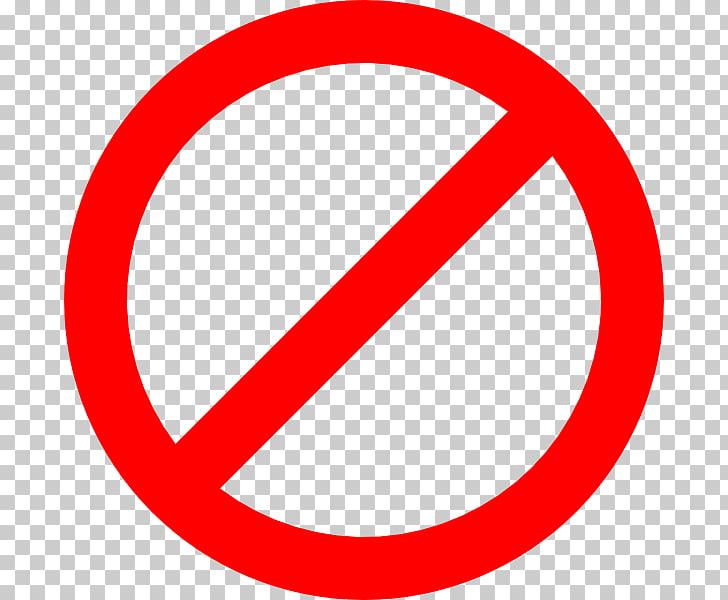 Señal roja redonda, ningún símbolo es igual a iconos de.