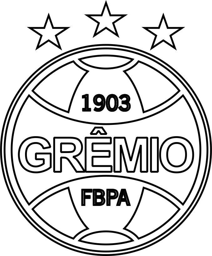 EMBLEMA DO GRÊMIO DE PORTO ALEGRE.