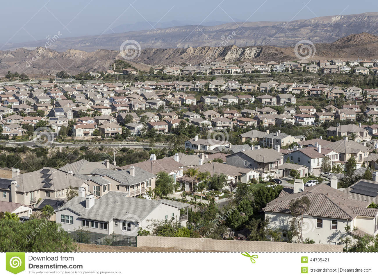 New Suburb Simi Valley California Stock Photo.