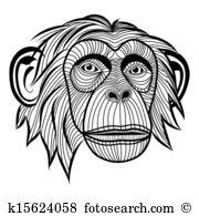 Simian Clipart Royalty Free. 122 simian clip art vector EPS.