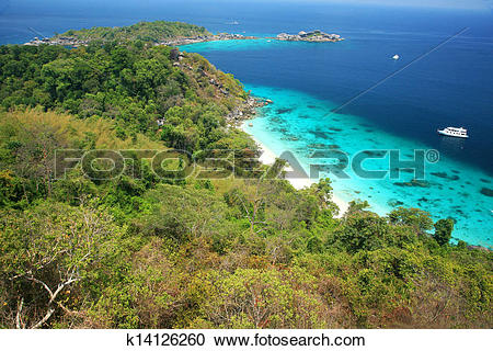 Stock Photography of famous viewpoint of Similan Islands Paradise.
