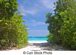 Stock Photography of Beautiful beach and crystal clear sea at.