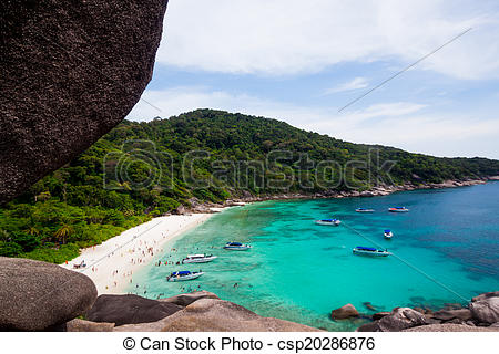 Picture of View Point at Similan island,Andaman Sea, Thailand.