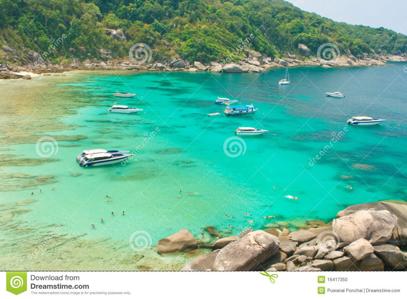 View Point Sail Rock, Similan Islands, Thailand Stock Photo.