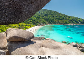 Picture of Donald Duck Bay at Similan islands, Thailand.