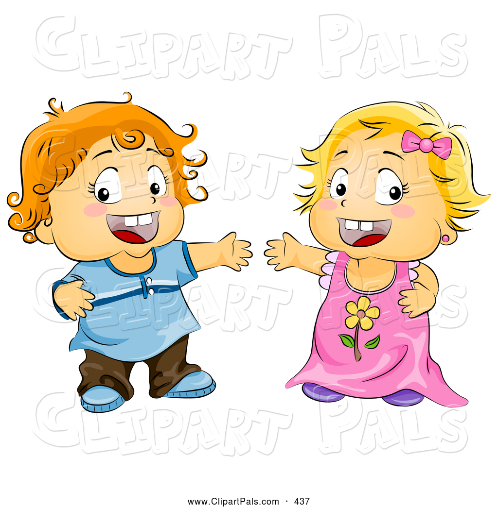 Toddler Girl Clipart.