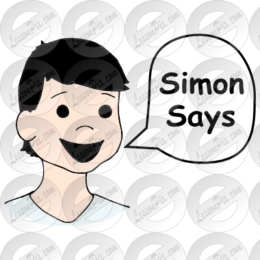 Simon Says Picture for Classroom / Therapy Use.