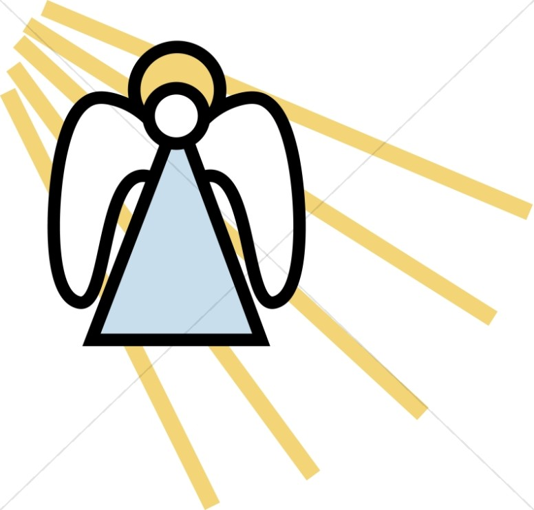 Simple Angel Clipart.