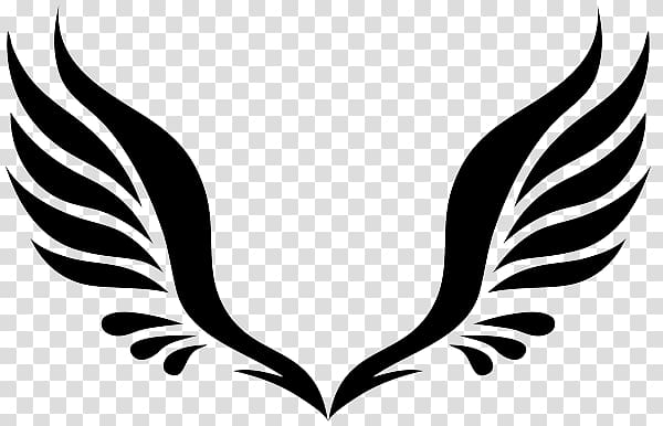 White wing , Simple Angel Wings Tattoo transparent.