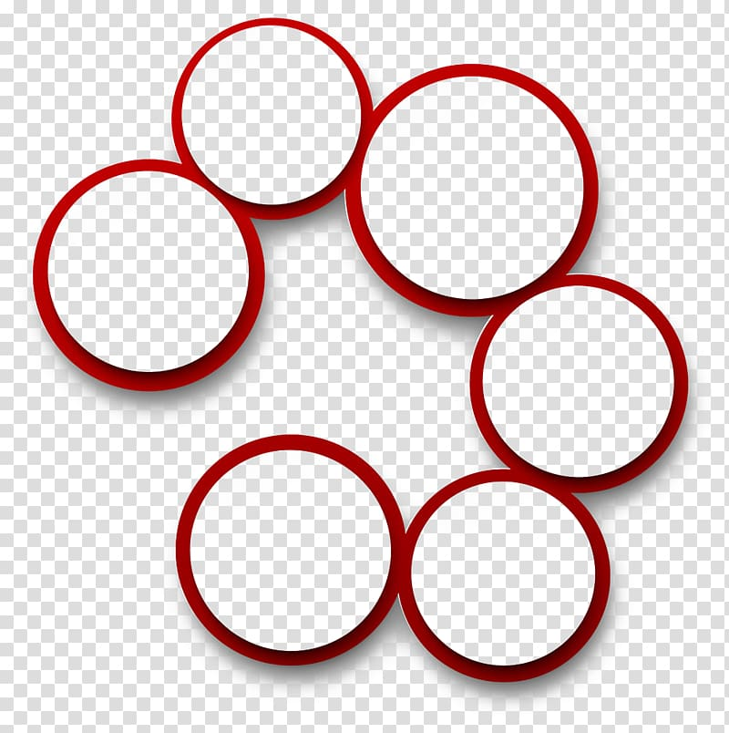 Circle Red Illustration, Creative simple background red.