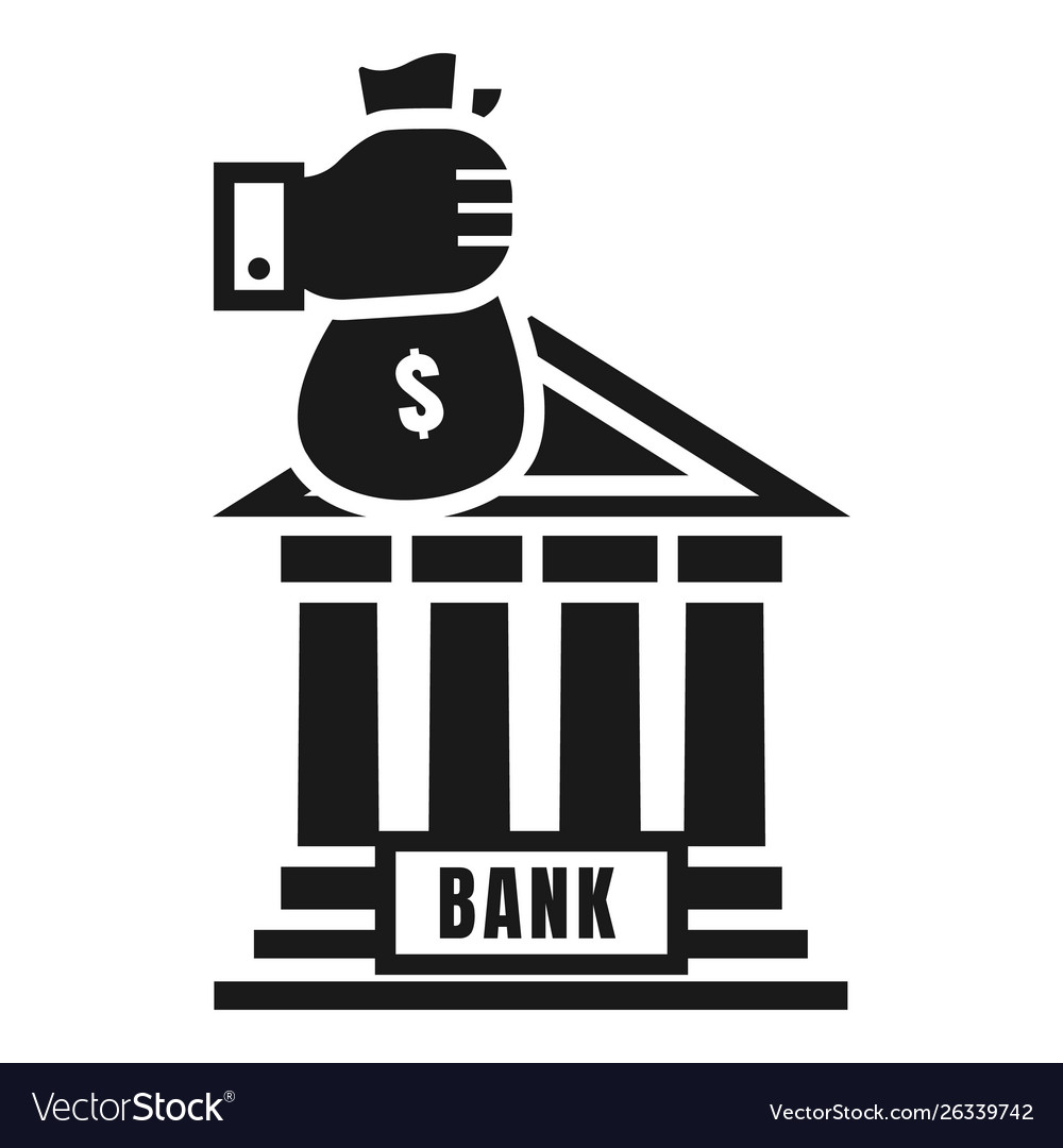 Money bag bank deposit icon simple style.