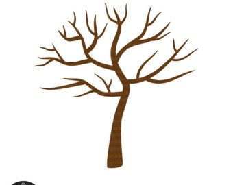 Digital Tree With No Lea Ves Winter Perfect For clipart.