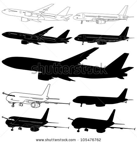 Old Airplane Simple Vector Biplane Stock Vector 80672647.