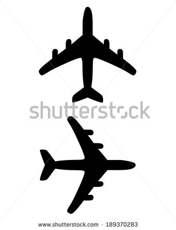 Black Airplane Silhouette Vector Travel Icon Stock 15619465