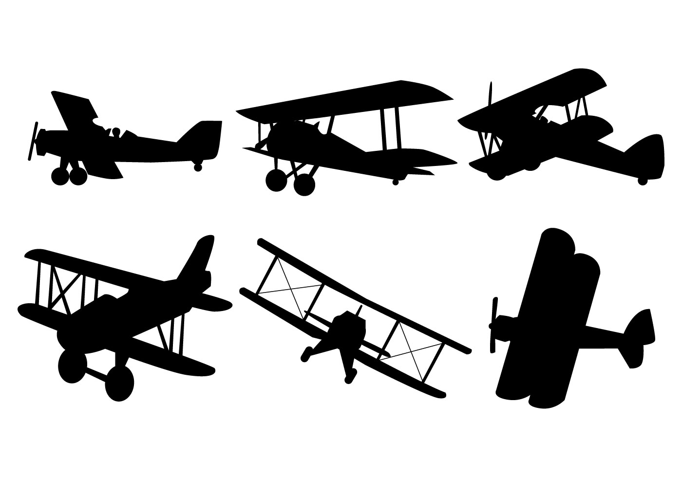 Biplane Free Vector Art.