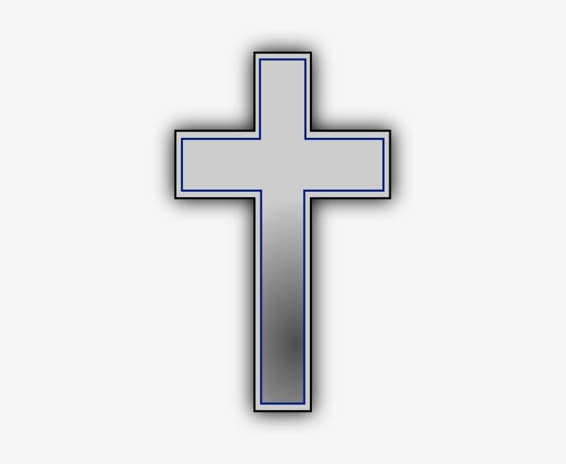 Simple Black Cross Clip Art.