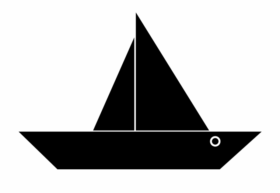 Clipart Boat Simple Boat Black Png.