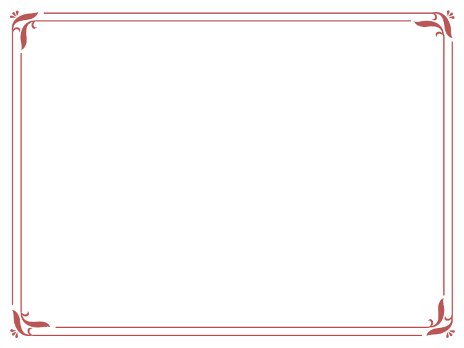 Simple Red Certificate Border.