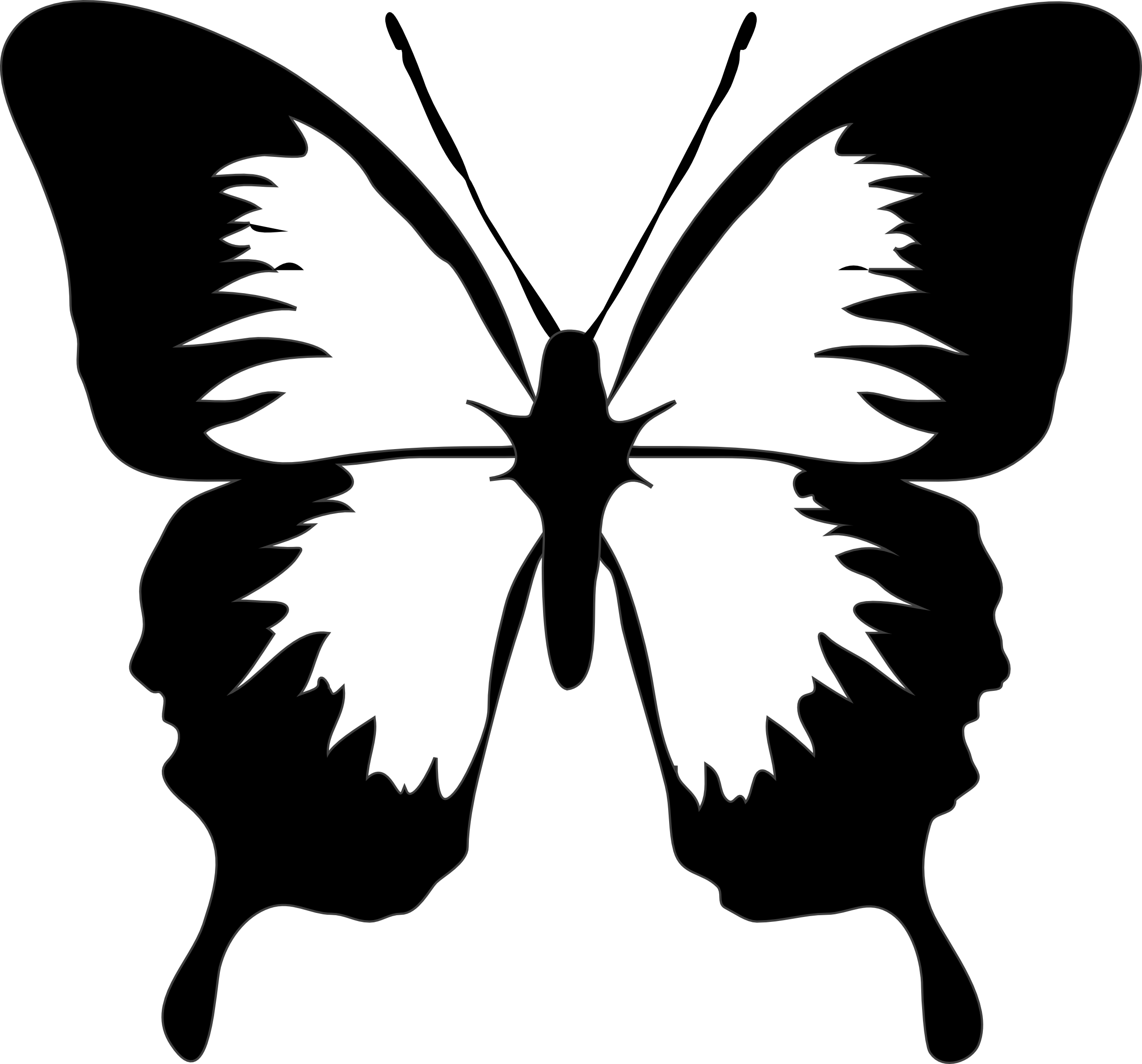 Free Simple Butterfly Black And White, Download Free Clip.