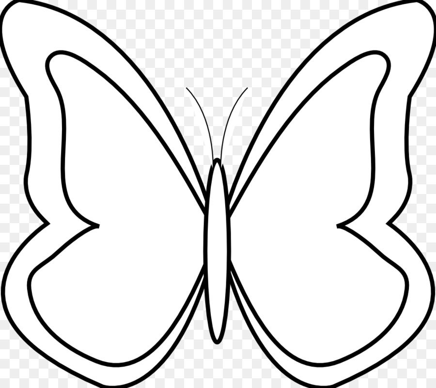 Butterfly Black and white Clip art.