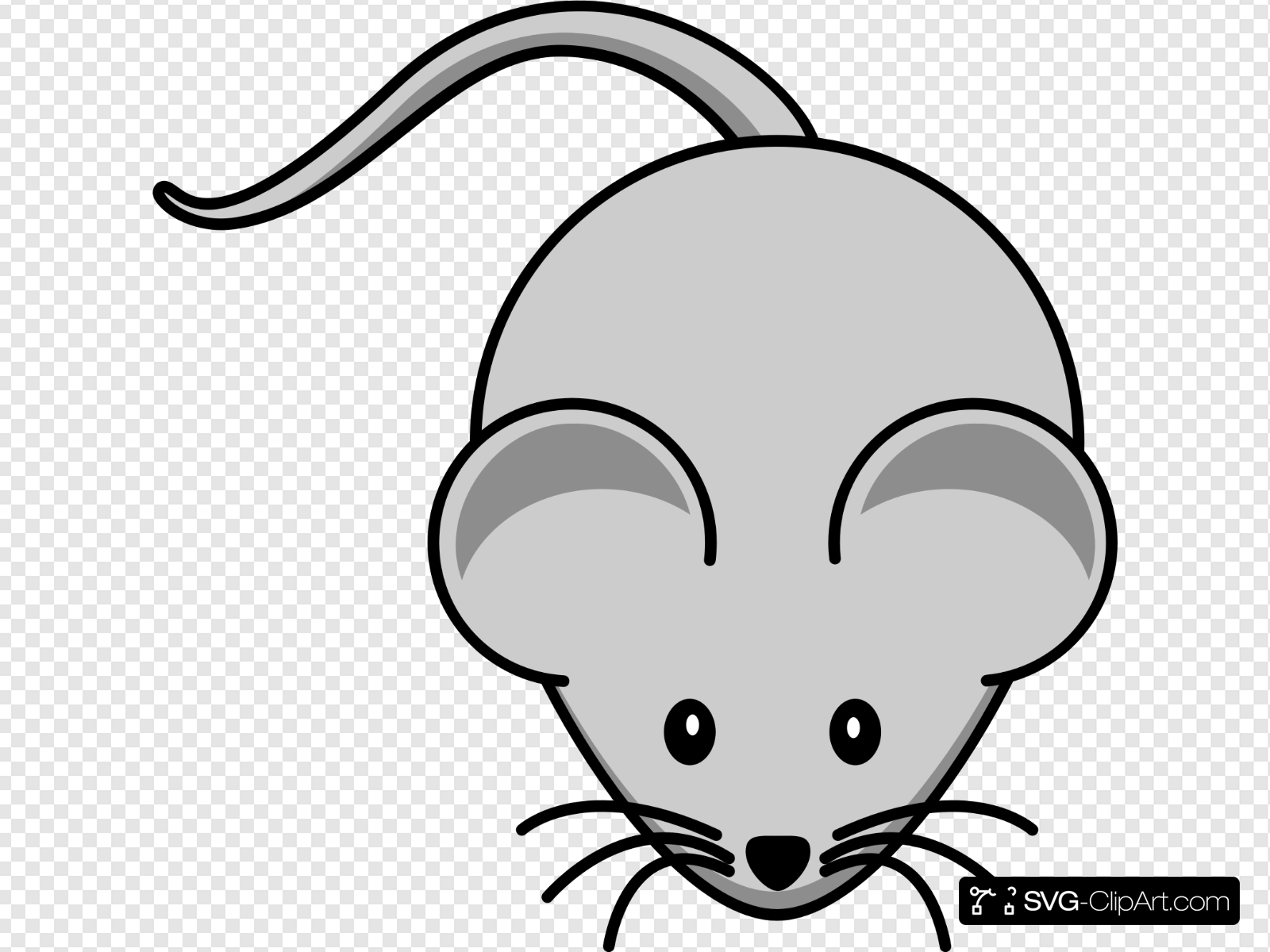 Simple Cartoon Mouse Clip art, Icon and SVG.