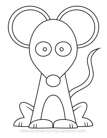 Simple Cartoon Mouse clip art Free Vector.