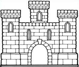 Castle clipart simple.