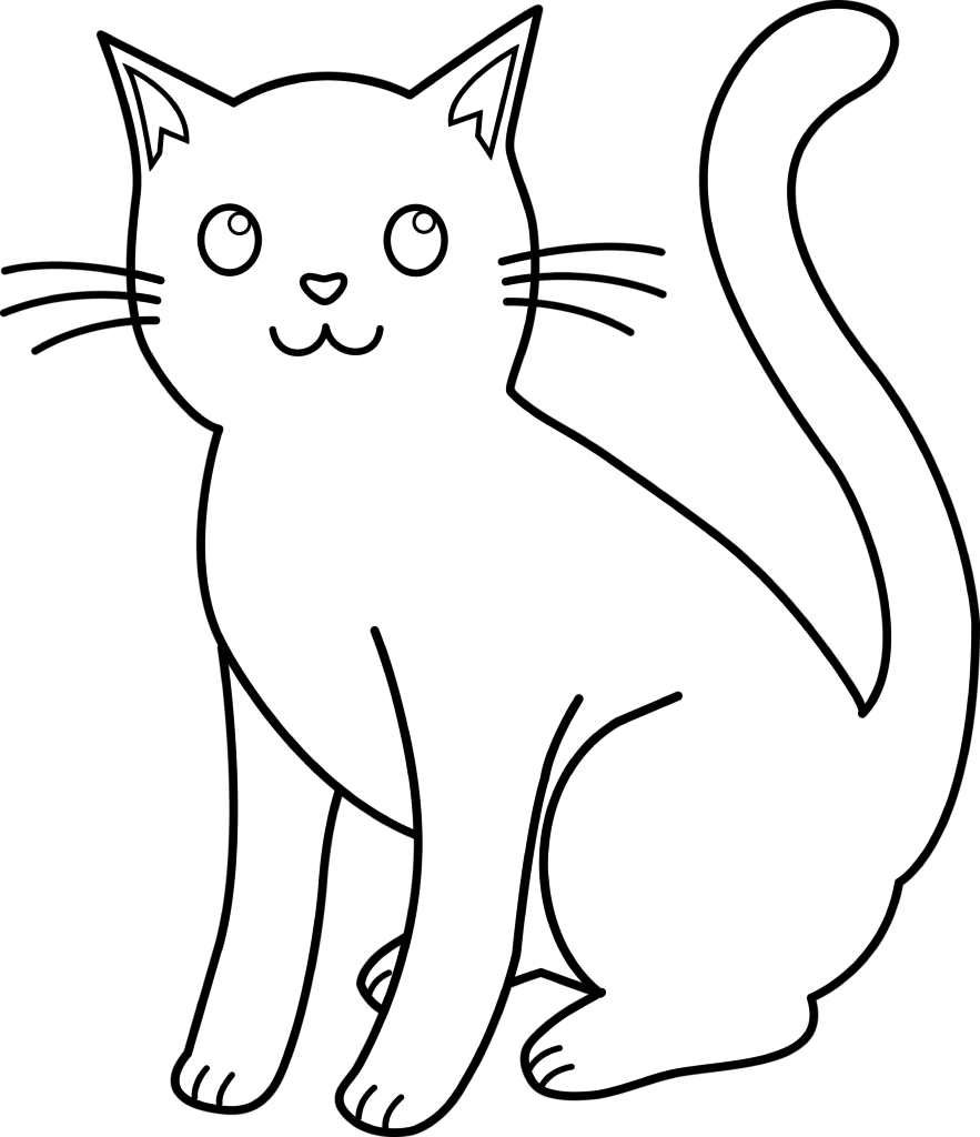 Simple Cat Drawing.
