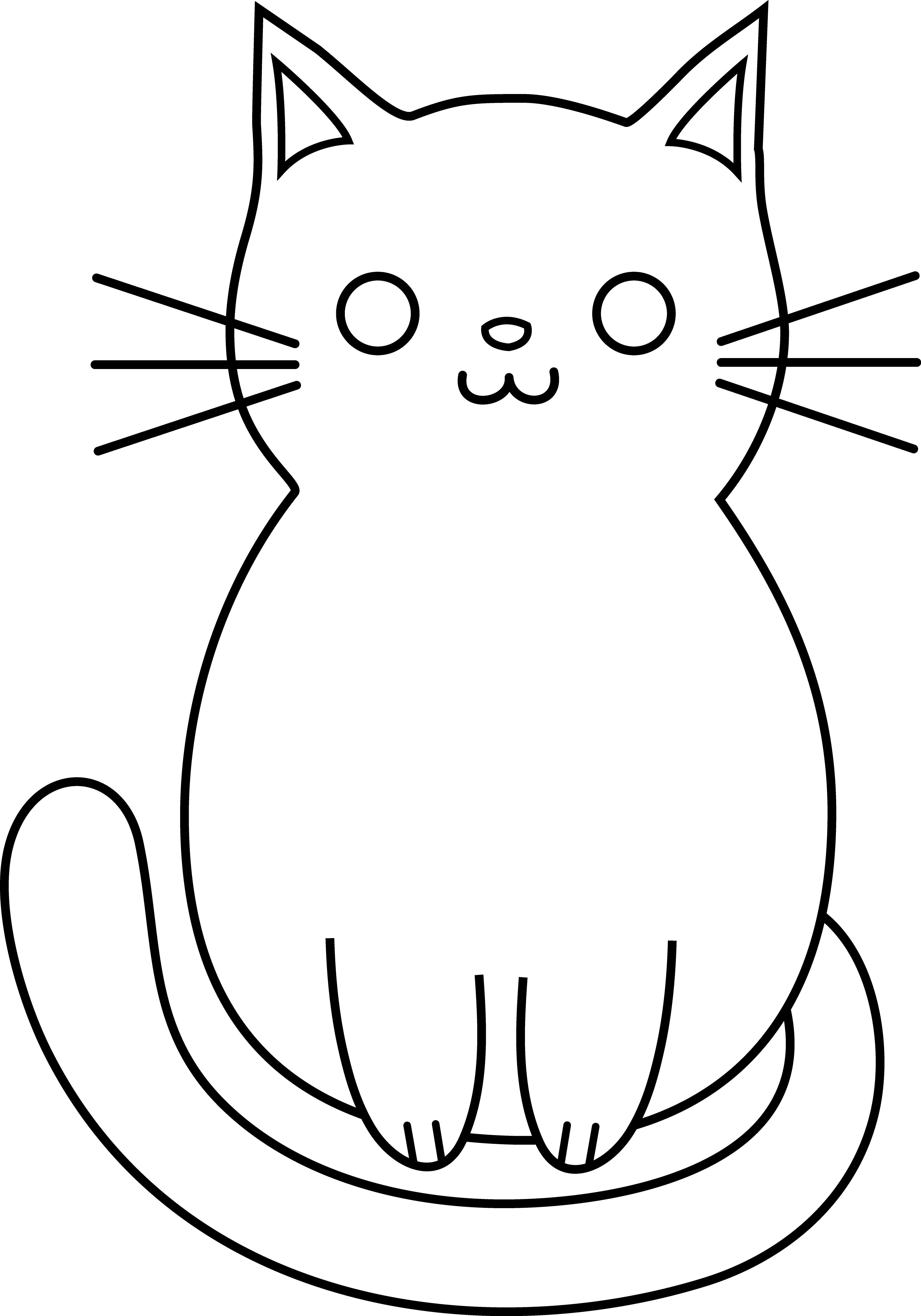 Easy Cat Drawing Pic Simple Cat Drawing Simple Cat Face.