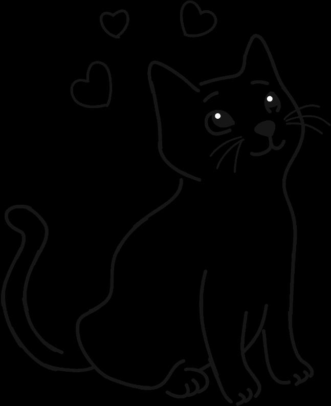 HD #cat #pet #animal #cute #drawing #outline #simple.