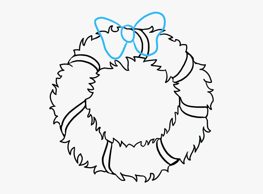 How To Draw Christmas Wreath.