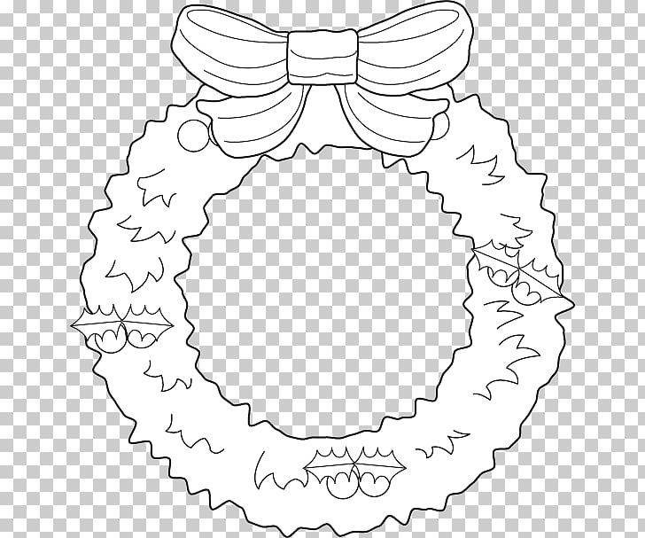Christmas Wreath Garland , simple garland PNG clipart.