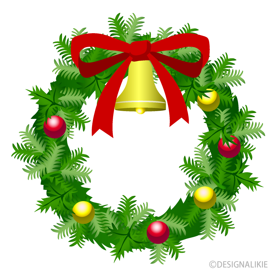 Free Christmas Wreath Clipart Image|Illustoon.