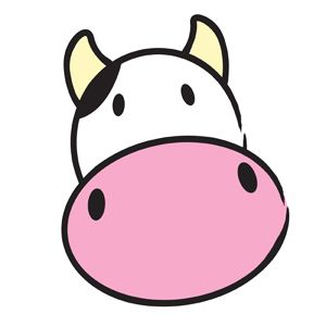 Cute Cow Clipart — Simple vector illustration of a cute cow.